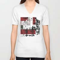 jazz V-neck T-shirts featuring jazz by onoff mode