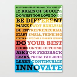 Lab No. 4 - Business Leadership Lessons From Steve Jobs Quotes Poster Canvas Print