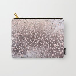 Shiny Spring Flowers - Pink Cherry Blossom Pattern Carry-All Pouch
