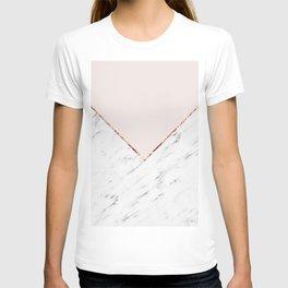 Peony blush geometric marble T-shirt