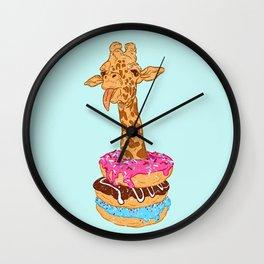 Donuts giraffe Wall Clock