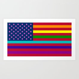 LGBT USA Flag Alternative Art Print
