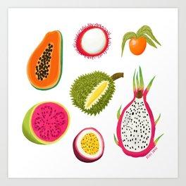 Exotic Fruits Art Print