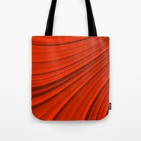 renaissance Tote Bags featuring Renaissance Red by Charma Rose