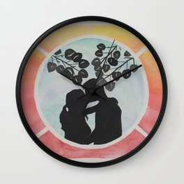 Kissing Silhouette Wall Clock