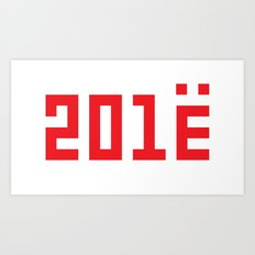 201Ё / New Year 2013 Art Print