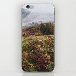 Rain clouds sweeping through the mountains near Blea Tarn. Cumbria, UK. iPhone Skin