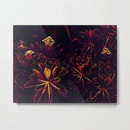 Black Flowers - Underworld Botanic Metal Print