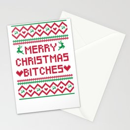 Ugly Merry Christmas Bitches Stationery Cards