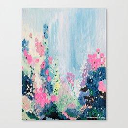 'Garden rain' oil painting on canvas Canvas Print