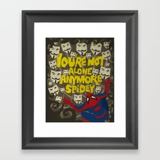 Paper Crossover - On The Web Framed Art Print