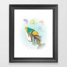 Triggerfish Framed Art Print