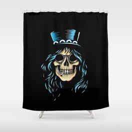 Slash Skull Shower Curtain