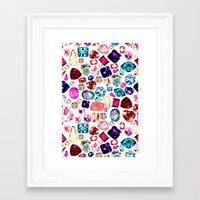 gem Framed Art Prints featuring GEM by Liz Haywood