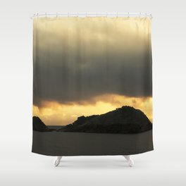 Isolated islet Shower Curtain