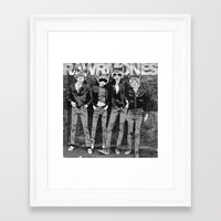 ramones Framed Art Prints featuring RAWRMONES by Gimetzco's Damaged Goods