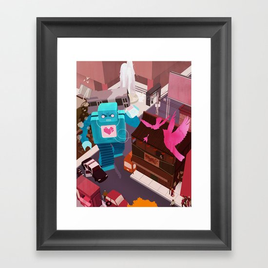 Dance, Lovebot! Dance! Framed Art Print