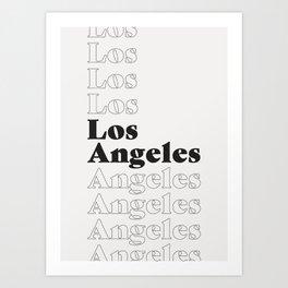 Los Angeles Type - Dark Art Print
