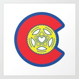 Colorado Bike Love Art Print