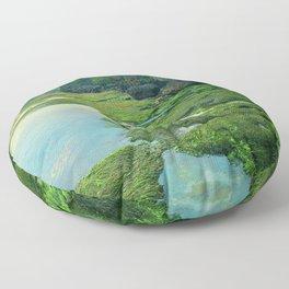 Ocean, Moss & Mountains Floor Pillow