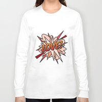 comic book Long Sleeve T-shirts featuring Comic Book LOVE! by Thisisnotme