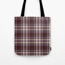 Burgundy Plaid Tote Bag