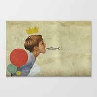collage Canvas Prints featuring E.A.T | Collage by Julien Ulvoas