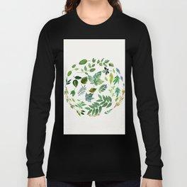 Circle of Leaves Long Sleeve T-shirt