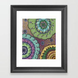Flowerbursts Framed Art Print