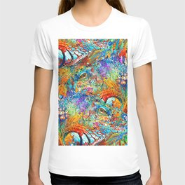 Colorful Iguana Art - Tropical Two - Sharon Cummings T-shirt