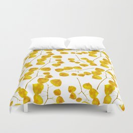 Gold Leaf Art Duvet Cover