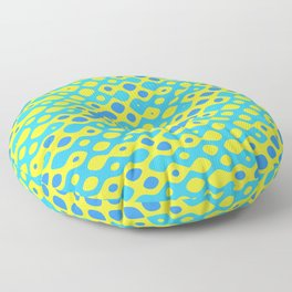 Brain Coral Blue Banded Small Polyps - Coral Reef Series 027 Floor Pillow