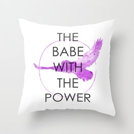 The Babe With The Power (Labyrinth) Throw Pillow