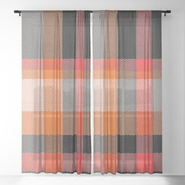 Rad Plaid Sheer Curtain