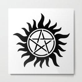 Anti-Possession Symbol Metal Print