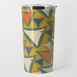 Decades Young 70's Living Room Triangles Travel Mug