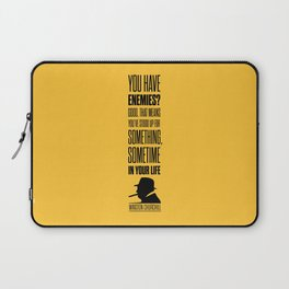 Lab No. 4 - Winston Churchill Inspirational Quotes Poster Laptop Sleeve