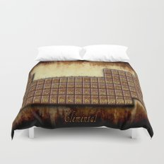 A Steampunk Periodic Table Duvet Cover
