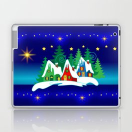 Christmas, Home for the Holidays Midnight Blue, Holiday Fantasy Collection Laptop & iPad Skin