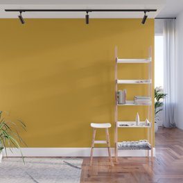 Golden Yellow Brown Solid Color Pairs To Sherwin Williams Glitzy Gold SW 6691 Wall Mural