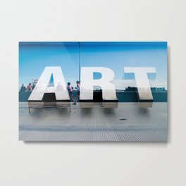 Running Art Metal Print