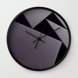 Violet stone prisms pattern Wall Clock