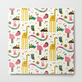 Animals Can Party Too! Metal Print