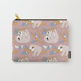 Sloth pattern in pink Carry-All Pouch
