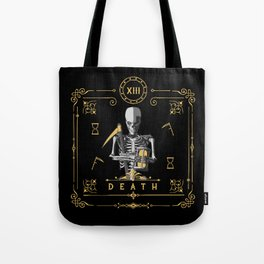 Death XIII Tarot Card Tote Bag