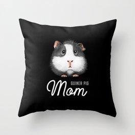 Guinea Pig Mom Throw Pillow
