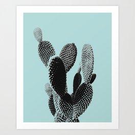 Cactus in blue Art Print