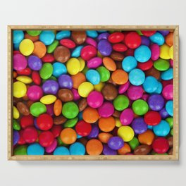 Candy Coated Chocolate Serving Tray