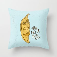 BANANA HEAD Throw Pillow