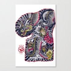 dragon flash Canvas Print